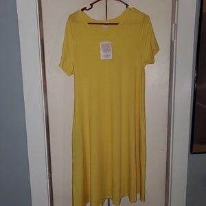 LulaRoe yellow Jessie dress